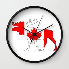 Canadian Flag Wall Clocks | Society6
