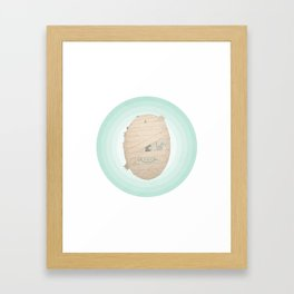 Murray the Happy Mummy Framed Art Print