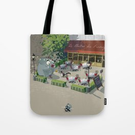 Mr. Elephant & Mr. Mouse 'Bistro' Tote Bag