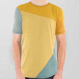Abstract Mountain Sunrise All Over Graphic Tee