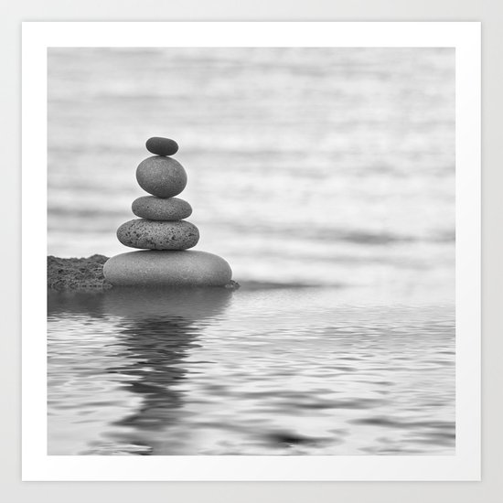 Seaside Harmony Zen Pebble by lebensartphotography