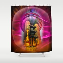 China Art Pearl Tower Shower Curtain