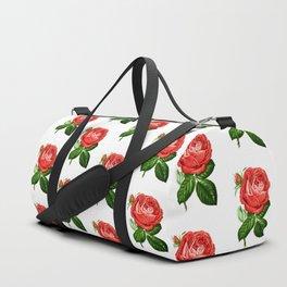Red Hybrid Perpetual, Paul Neyron Rose Vintage Print Duffle Bag