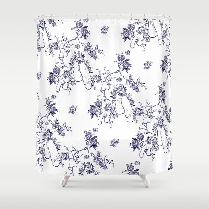 Penis Pattern Shower Curtain By Dapperdan