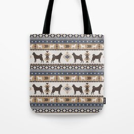 Boho dogs | Elkhound/Jämthund tan Tote Bag