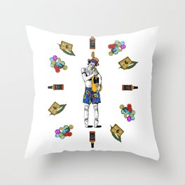 Keith Richars-  rock and roll life Throw Pillow