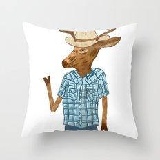 Country deer Throw Pillow