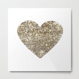 Gold Heart-65 Metal Print