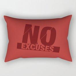 No Excuses - Red Rectangular Pillow