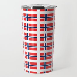 flag of norway,snow,scandinavia,scandinavian, norwegian,oslo Travel Mug