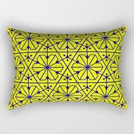 V26 Moroccan Pattern Design Yellow Carpet Moroccan Texture. Rectangular Pillow
