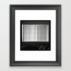 Trying to get through. Framed Art Print