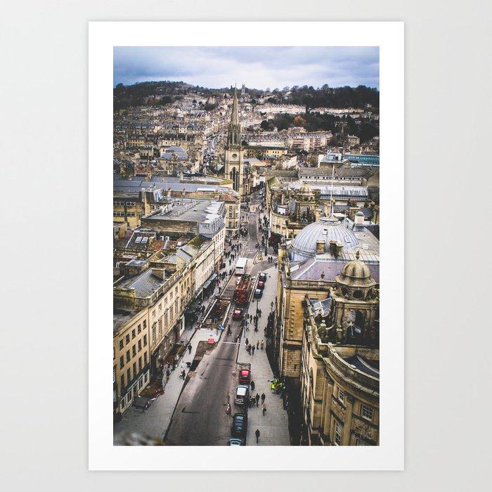 Bath Overlook Art Print
