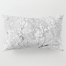 Washington D.C. White Map Pillow Sham