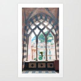 Window in Amalfi Coast Art Print