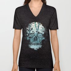 Dark Forest Skull Unisex V-Neck
