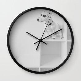 Puppy watching Wall Clock