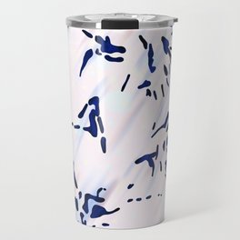 Blue Splatter Painting Pattern Travel Mug