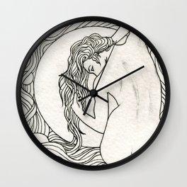 Hair Nouveau Wall Clock