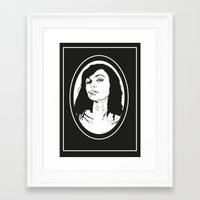 smoking Framed Art Prints featuring Smoking by Anna McKay