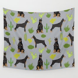 Doberman Pinscher cactus desert southwest gifts for dog lover pet owner must haves pet friendly Wall Tapestry