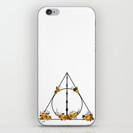 Deathly Hallows in Gold and Gray iPhone Skin