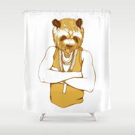 Bear - Panda - You're a Beast Shower Curtain
