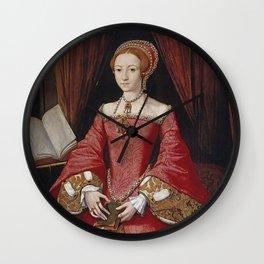 The Virgin Queen when a Princess Wall Clock