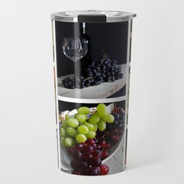 Home Bar Decor - Wine Vineyard Collage Travel Mug