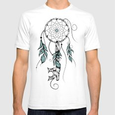 Poetic Key of Dreams White SMALL Mens Fitted Tee