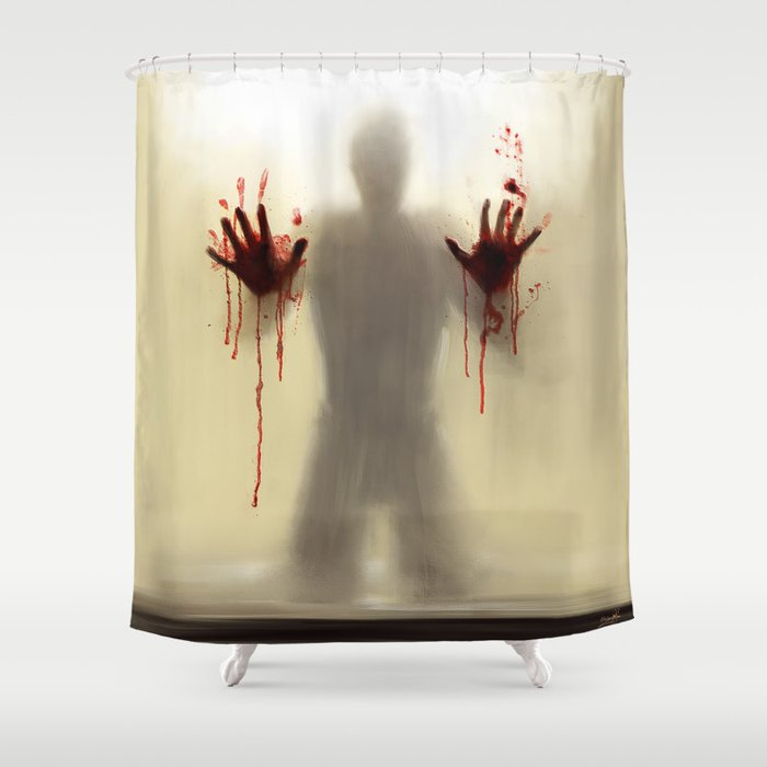 Beware to the shower....you are not alone! Shower Curtain
