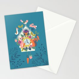 Cuckoo (Teal) Stationery Cards