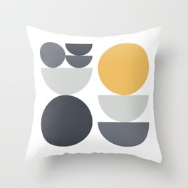 Shapes 04 - Bauhaus / Swiss Design Throw Pillow