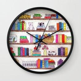 Colored booshelf! Wall Clock