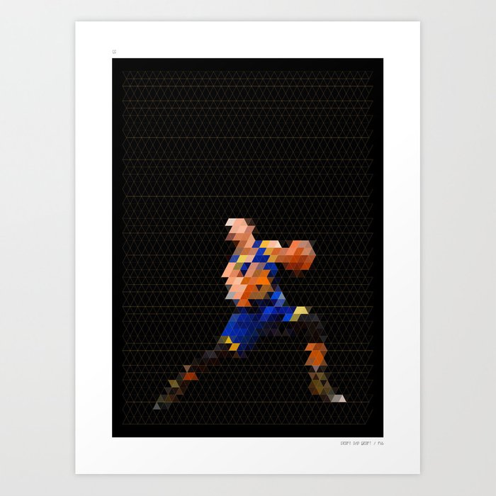 Pixel Art Sc Art Print By Craftandgraft