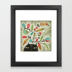 FLOWERING THOUGHT Framed Art Print