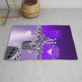 dice day - violet Rug