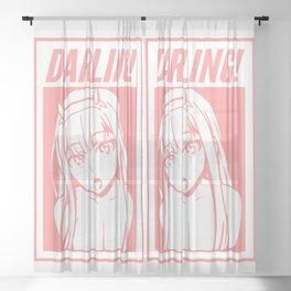 DARLING! Sheer Curtain