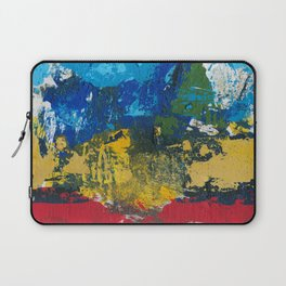 Lucas Abstract Painting Blue Black Yellow Laptop Sleeve