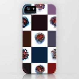 Rose City Monster's Nipple Quilt iPhone Case