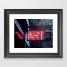 Neon Art Framed Art Print