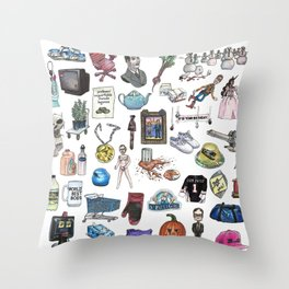 Objects Throw Pillow
