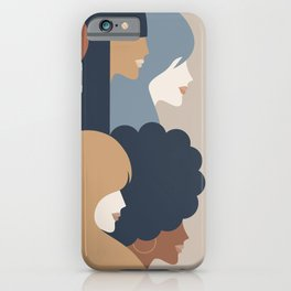 Girl Power portrait - we persist - Earthy #girlpower iPhone Case