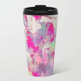 Pink geisha Travel Mug