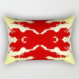 Januna - Abstract Colorful Red Yellow Summer Batik Tie Dye Style Butterfly Rectangular Pillow