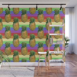 pineapple rainbow Wall Mural