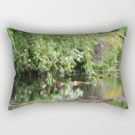 Monet's Garden 3 Rectangular Pillow