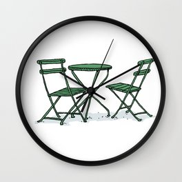 Chairs in Bryant Park Wall Clock