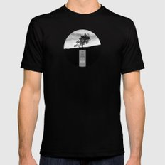 Henry David Thoreau - Solitude LARGE Black Mens Fitted Tee