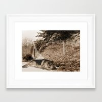 german shepherd Framed Art Prints featuring German Shepherd by Erika Kaisersot